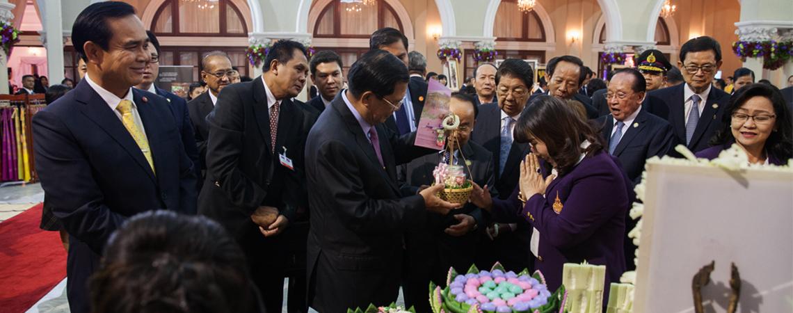 งานต้อนรับนายกรัฐมนตรีกัมพูชา